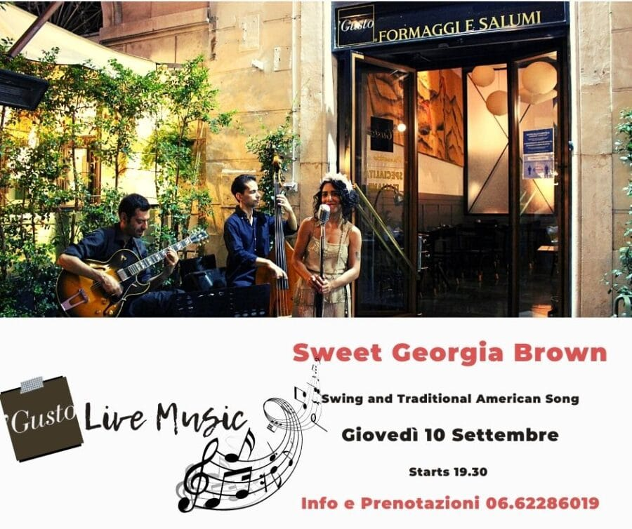 locandina live music sweet georgia brown